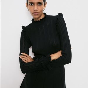 Zara Ruffled Knit Dress